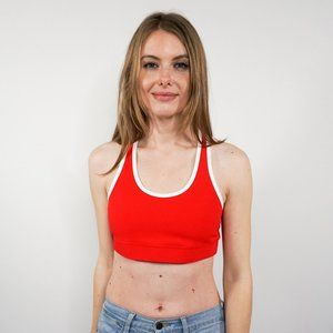 ALL ACCESS Front Row Ribbed Red Sport Bra NWOT